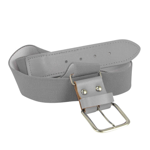 Twin City Adjustable Elastic Baseball Belts - Gray - HIT A Double
