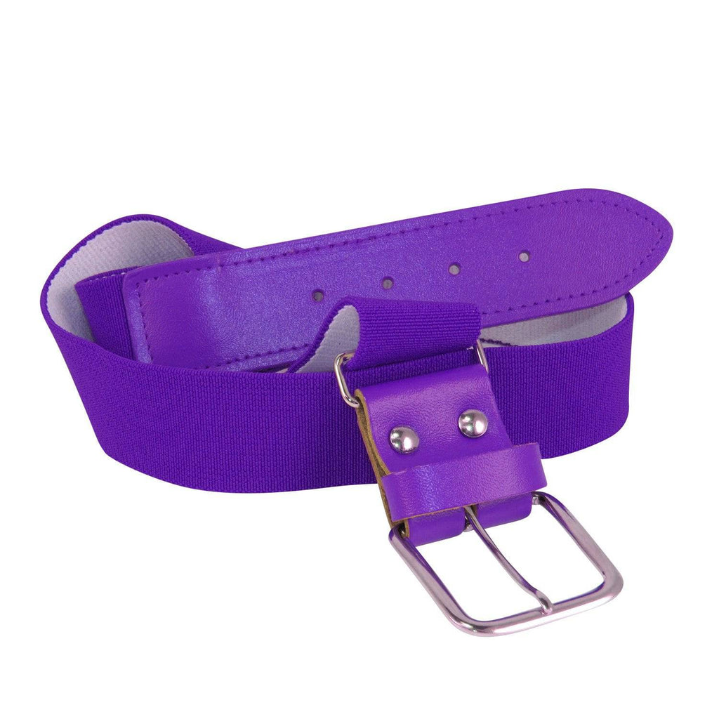 Twin City Adjustable Elastic Baseball Belts - Purple
