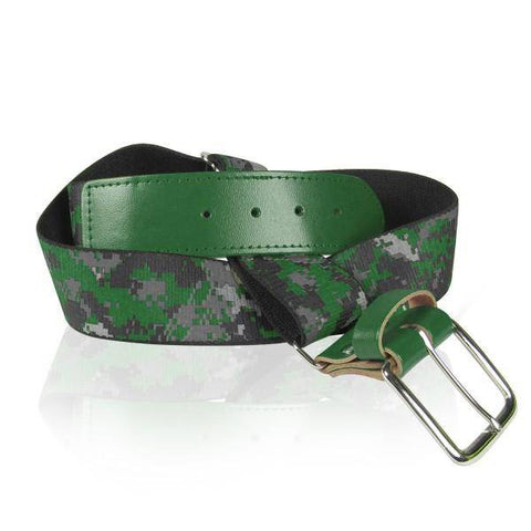 Twin City Camo Baseball Belts - Dark Green Camo - HIT A Double