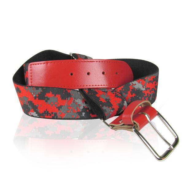 Twin City Camo Baseball Belts - Scarlet Camo - HIT A Double