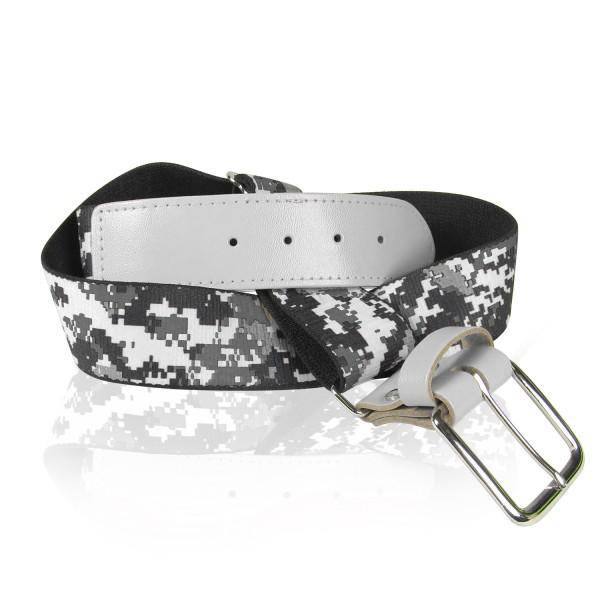 Twin City Camo Baseball Belts - White Camo - HIT A Double