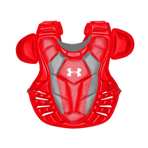Under Armour Converge Adult Pro Chest Protector - Scarlet - Catcher's Gear - Hit A Double