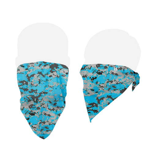 Badger 1919 B-Core Face Bandana - Electric Blue Digital