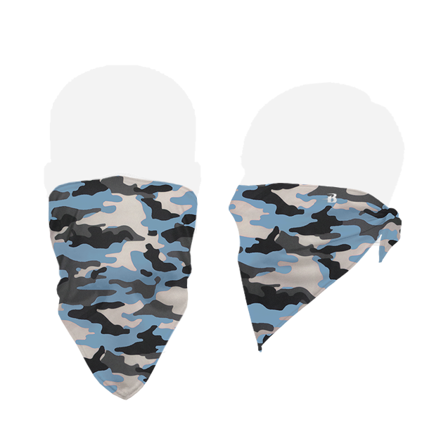 Badger 1919 B-Core Face Bandana - Columbia Blue Camo