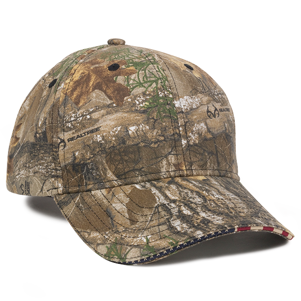 OC Sports USA-350 Adjustable Cap - Realtree Edge
