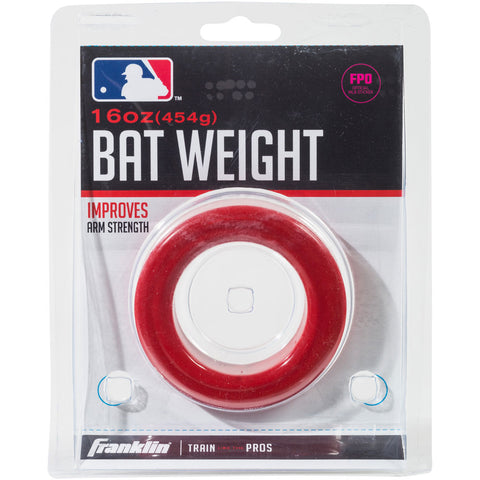 Franklin 16oz Bat Weight Red - 1 ea - Baseball Accessories, Softball Accessories - Hit A Double