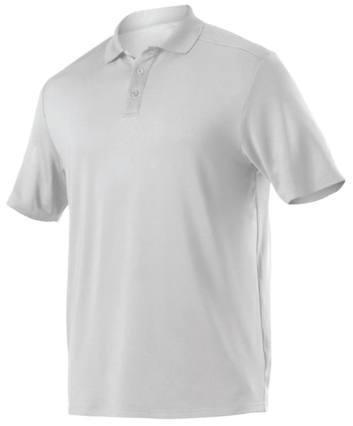 Alleson GPL5 Adult Gameday Polo - White - Band, Bowling, Fanwear, Golf - Hit A Double