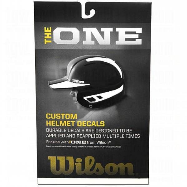 Wilson One Batting Helmet Decal Kit White - 1 ea - HIT A Double