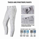 Wilson Pro T3 Premium Baseball Adult Pinstripe Pants - Gray Navy - HIT A Double