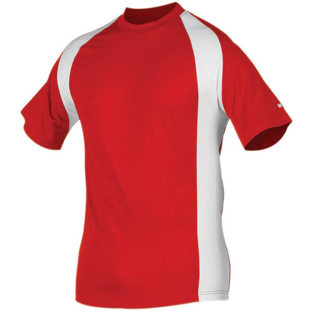 Worth Titan Short Sleeve Jersey Men's - Red White - HIT A Double