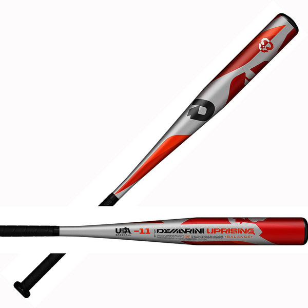 "DeMarini 2019 Uprising (-10) Balanced USA Approved 2 1/2"" Bat - Gray Black - HIT A Double"