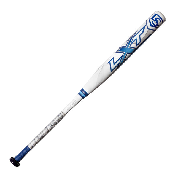 Louisville Slugger 2018 LXT X18 (-10) Fastpitch Bat - White Blue