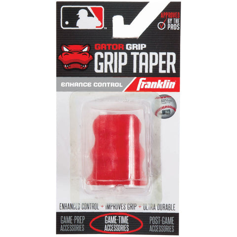 Franklin Sports MLB Gator Grip Taper Red - Baseball Accessories, Softball Accessories - Hit A Double - 1
