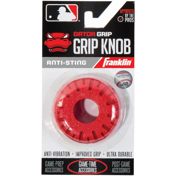 Franklin Sports MLB Gator Grip Knob Red - Baseball Accessories, Softball Accessories - Hit A Double - 1