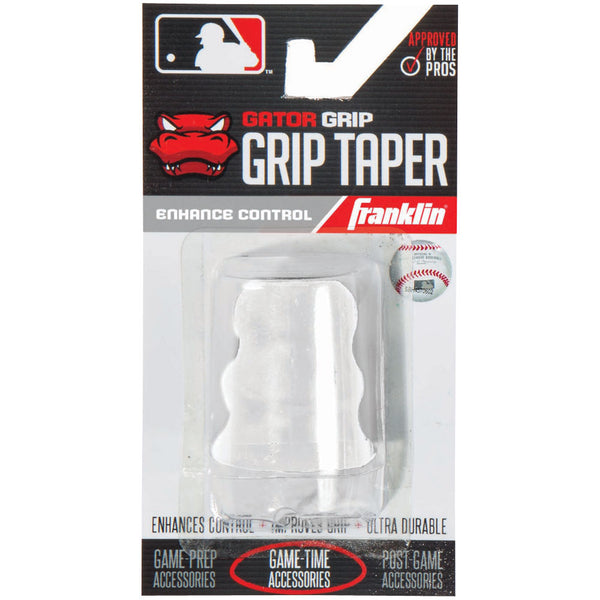 Franklin Sports MLB Gator Grip Taper White - Baseball Accessories, Softball Accessories - Hit A Double - 1