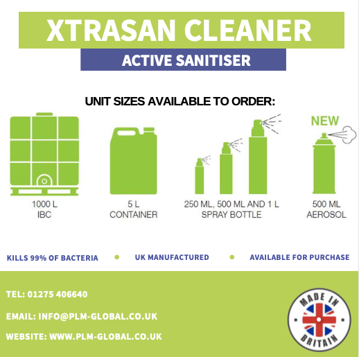 PLM Global introduce effective and safe new hand sanitiser