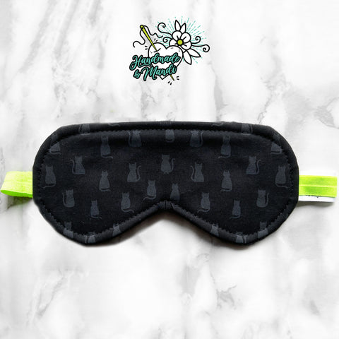 """Black Cats"" Cozy Fleece Sleeping Eye Mask"