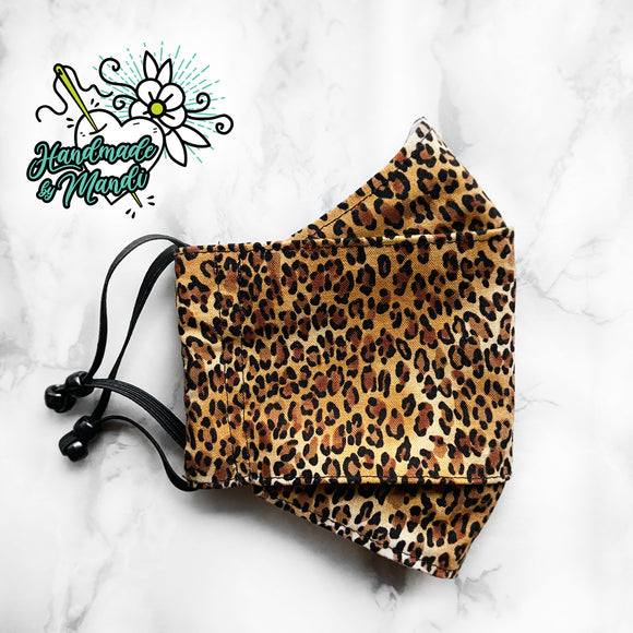 Classic Leopard Print 3D Pleated Face Mask