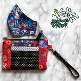 "SPECIAL EDITION Rifle Paper Co ""Wonderland"" (Metallic) Zip & Pleat Carry-All Wristlet"