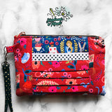 SPECIAL EDITION Rifle Paper Co. Wonderland (Metallic) Zip & Pleat Carry-All Wristlet