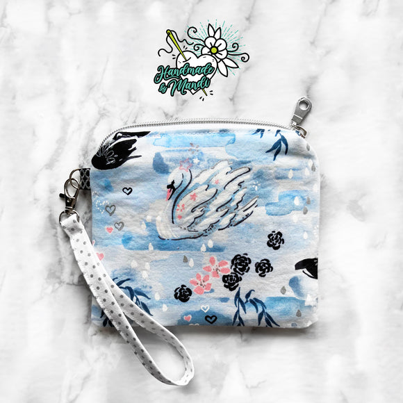 SPECIAL EDITION Enchanted Lake Willows (Metallic) Zipper Mask Pouch Wristlet