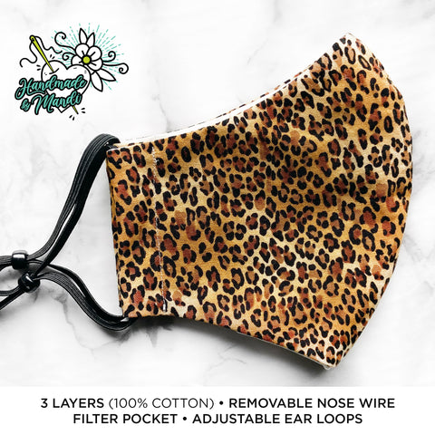 """Classic Leopard"" Deluxe Olson Face Mask"