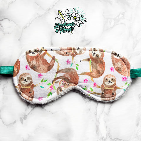"""Lazy Sloths"" Polar Fleece Sleeping Eye Mask"