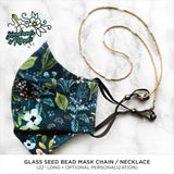 Beaded Mask Chain/Necklace (Gold/Pearl)