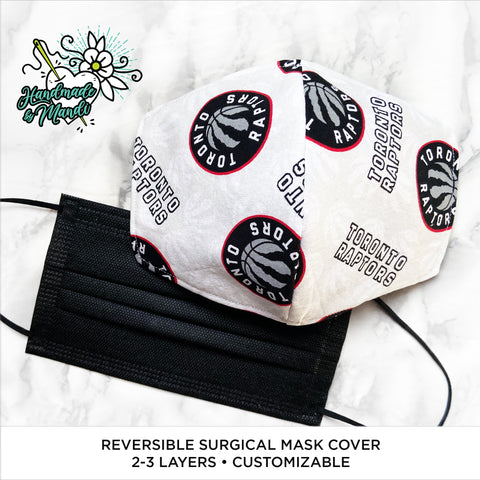 LIMITED EDITION Toronto Raptors Reversible Surgical Mask Cover/Lining