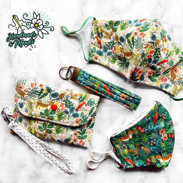 "SPECIAL EDITION Rifle Paper Co Ménagerie ""Jungle"" (Natural) Snap & Clasp Pouch"
