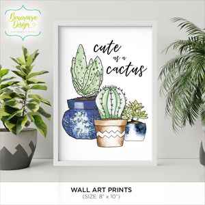 "CLEARANCE: Art Print ""Cute as a Cactus"""
