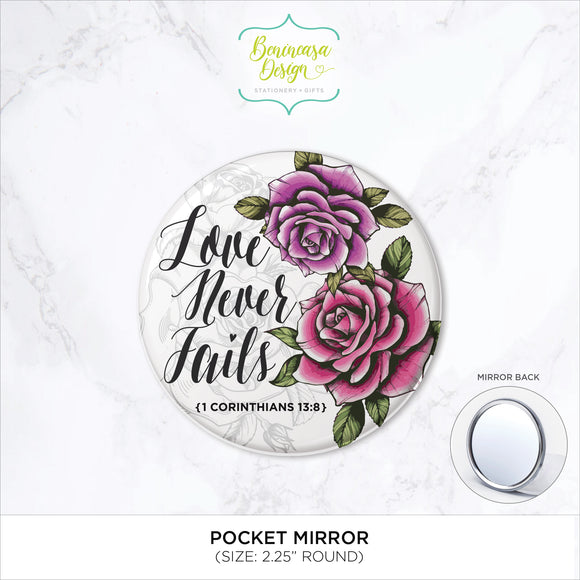 Pocket Mirror (1 Corinthians 13:8)