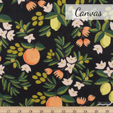 "LIMITED EDITION Rifle Paper Co. Primavera ""Citrus Blossoms"" Black Canvas 3D Pleated Face Mask (3 Layers)"