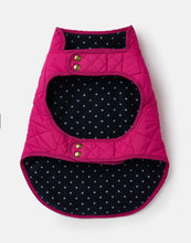 Load image into Gallery viewer, Joules Quilted Dog Coat in Raspberry