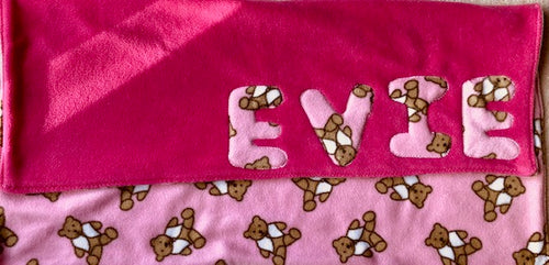 Made in the UK, Personalised, Luxury Puppy Blanket, Luxury Kitten Blanket, A Gift for your dog, A gift for a baby