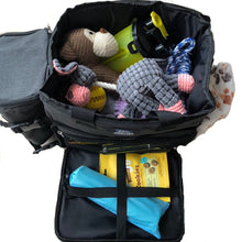 Load image into Gallery viewer, The perfect travel kit in a sturdy back pack including; emergency lead, food container,  travel bed and blanket, toys, food bowls and other treats!