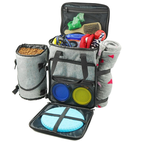 Pet organiser bag. Pet travel bad. Dog holiday or travel bag. Dog organiser bag.
