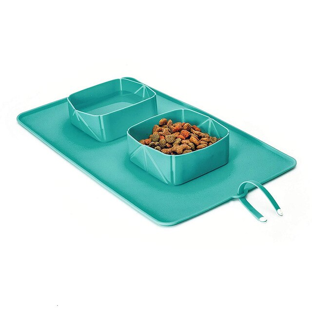 collapsable bowl. Hiking bowl for dog. camping dog bowl. Rollable dog bowl Portable dog bowl.
