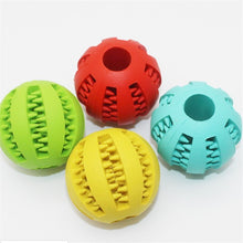Load image into Gallery viewer, Rubber chew treat ball for dogs, treat chew, interest, engaged, aggressive chewer. rubber chew ball for dogs