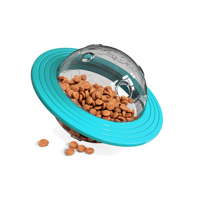A fun interactive toy to keep your pup engaged.  Fill with treats that will dispense slowly.  Safe, bite resistant and loads of fun!