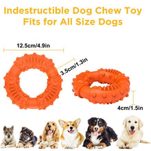 Load image into Gallery viewer, Durable chew ring. Dog dental care. Fetch dog game. Carry dog toy. Large size.