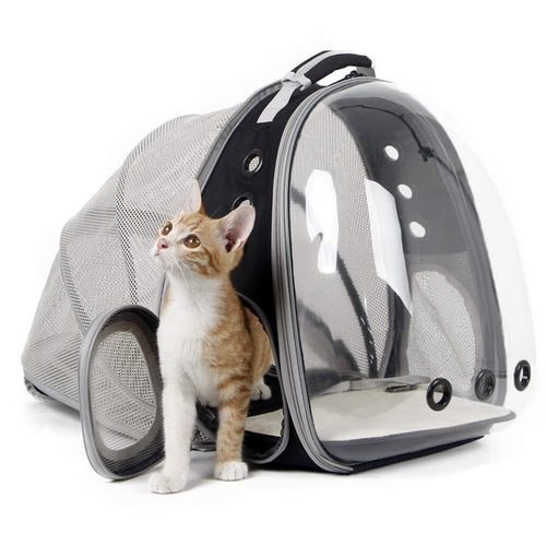 Astronaut travel pet capsule, back pack, window for your cat to see put of, extendable section to give them more room.