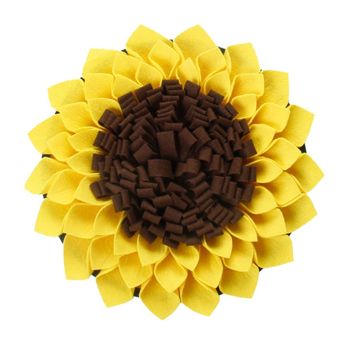 Large sunflower snuffle mat for foraging and calming.