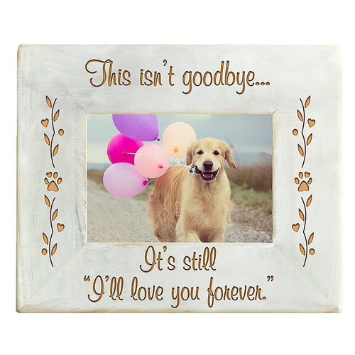 Beautiful wooden memorial photo frame for  you pet.