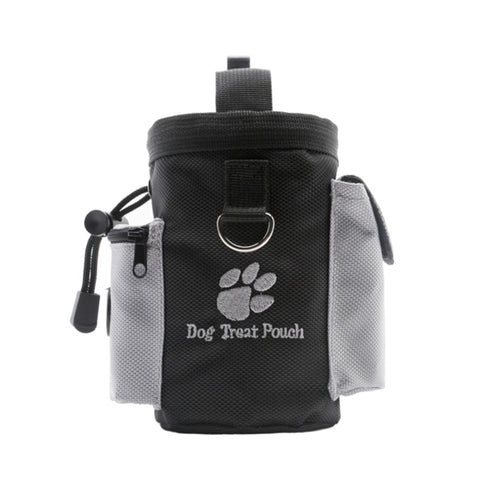 A useful black and great treat pouch, with spare pockets for poo bags and hand get! Easy to clip on your belt.