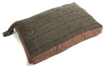 Load image into Gallery viewer, Tweed Traditional Dog Bed, Tweed Dog Bed, Large dog bed, made in Britain dog bed, traditional dog bed, useful dog bed, portable dog bed.