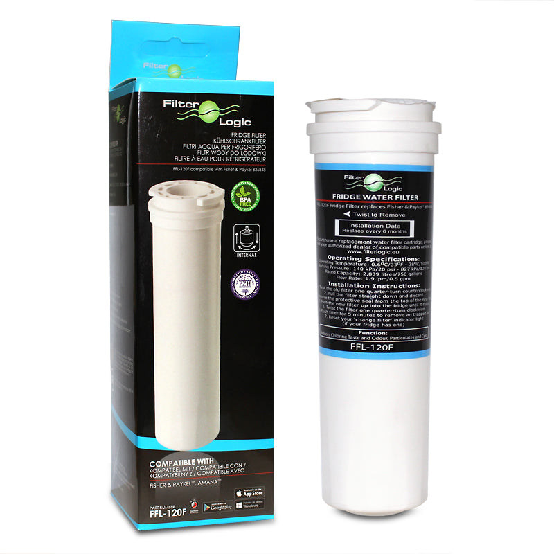 FFL-120F FilterLogic Compatible Fisher & Paykel 836848 and 836860 - Water Filter Men