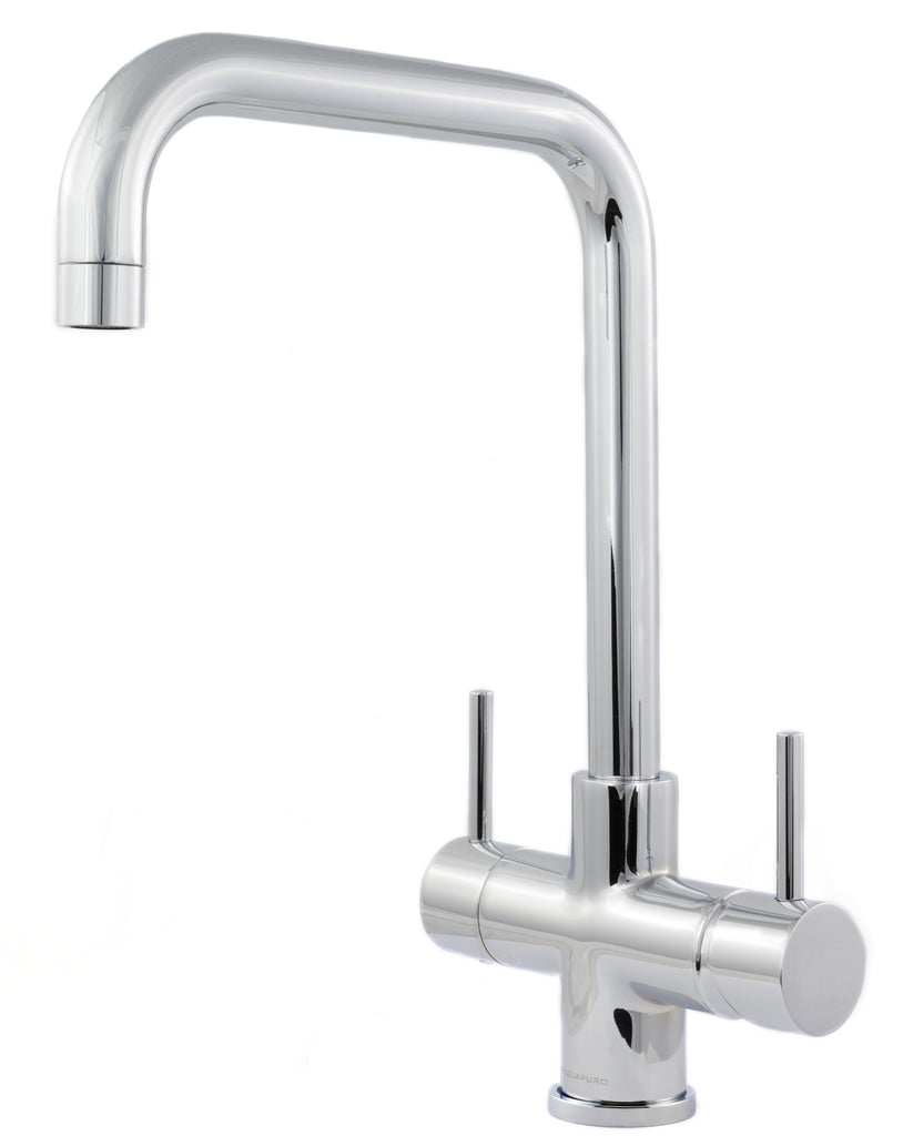 Monza 2 Lever Triflow Filter Tap Chrome - Water Filter Men