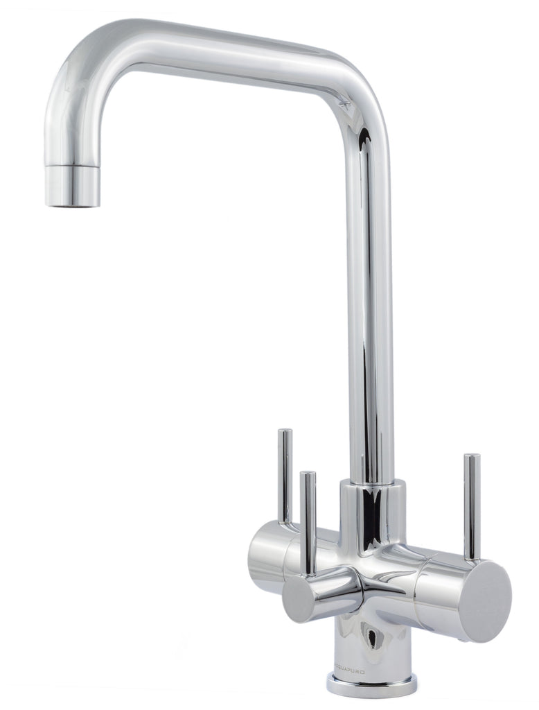 Monza 3 Lever Triflow Filter Tap Chrome - Water Filter Men