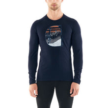 Load image into Gallery viewer, Icebreaker Base Layer Mens 200 Oasis LS Crewe Mt Blanc Rise   - Long Sleeve Crewe - Winter Outdoor Camping Trekking Hiking